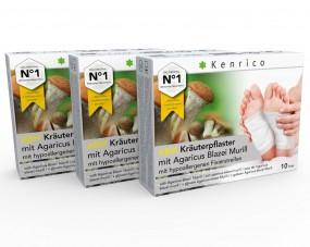 ABM Kräuterpflaster mit Agaricus Blazei 30 Pflaster