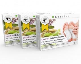 Lexirin® Kräuterpflaster mit Nattokinase und Ashwagandha 30 Pflaster